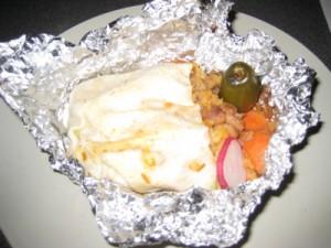 Veggie Burrito From Taco Truck