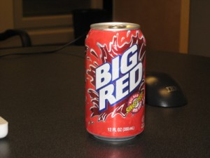 A can of Big Red soda